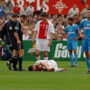 NLD/Rotterdam/20060507 - Finale competitie 2005/2006 Gatorade cup Ajax - PSV, Angelos Charisteas gewond op de grond