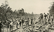 Repairing after Stuart's Raid from the book ' The Civil war through the camera ' hundreds of vivid photographs actually taken in Civil war times, sixteen reproductions in color of famous war paintings. The new text history by Henry W. Elson. A. complete illustrated history of the Civil war