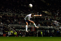 Photo. Jed Wee, Digitalsport<br /> England v Azerbaijan, World Cup Qualifier, 30/03/2005.<br /> England's Michael Owen misses England's best chance when he balloons a header when unmarked in the area.