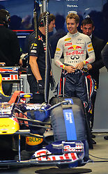 14.05.2011, Red Bull Ring, Spielberg, AUT, RED BULL RING, SPIELBERG, EROEFFNUNG, im Bild Sebastian Vettel, (Red Bull Racing) in der Box // Sebastian Vettel, (Red Bull Racing) in the pit during the official Opening for the Red Bull Circuit in Spielberg, Austria, 2011/05/14, EXPA Pictures © 2011, PhotoCredit: EXPA/ S. Zangrando
