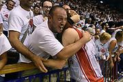 DESCRIZIONE : Reggio Emilia Lega A 2014-15 Grissin Bon Reggio Emilia - Banco di Sardegna Dinamo Sassari playoff Finale gara 5 <br /> GIOCATORE : Achille Polonara<br /> CATEGORIA : esultanza postgame<br /> SQUADRA : Grissin Bon Reggio Emilia<br /> EVENTO : LegaBasket Serie A Beko 2014/2015<br /> GARA : Grissin Bon Reggio Emilia - Banco di Sardegna Dinamo Sassari playoff Finale gara 5<br /> DATA : 22/06/2015 <br /> SPORT : Pallacanestro <br /> AUTORE : Agenzia Ciamillo-Castoria/GiulioCiamillo<br /> Galleria : Lega Basket A 2014-2015 Fotonotizia : Reggio Emilia Lega A 2014-15 Grissin Bon Reggio Emilia - Banco di Sardegna Dinamo Sassari playoff Finale  gara 5<br /> Predefinita :