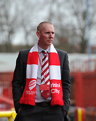 Bristol City's media manager, Adam Baker looks on as staff prepare to host West Ham United at Ashton Gate for the FA Cup fourth round tie - Photo mandatory by-line: Paul Knight/JMP - Mobile: 07966 386802 - 25/01/2015 - SPORT - Football - Bristol - Ashton Gate - Bristol City v West Ham United - FA Cup fourth round