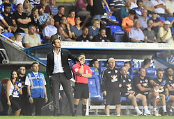 Derby County manager Frank Lampard gestures on the touchline