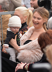 Behati Prinsloo attends the ceremony honoring Adam Levine with a star on the Hollywood Walk of Fame on February 5, 2017 in Los Angeles, California. Photo by Lionel Hahn/AbacaUsa.com