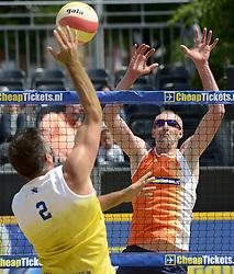 01-06-2014 NED: Eredivisie Beachvolleybal 2014,  Arnhem<br /> Richard Schuil