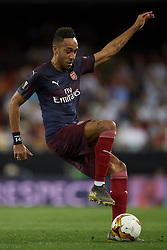 May 9, 2019 - Valencia, Spain - Aubameyang  of Asenal controls the ball during the UEFA Europa League Semi Final Second Leg match between Valencia and Arsenal at Estadio Mestalla on May 9, 2019 in Valencia, Spain. (Credit Image: © Jose Breton/NurPhoto via ZUMA Press)