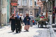 Turkish women in a street in Istanbul, Turkey