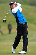 Dylan Keating (Seapoint) the 18th tee during Round 3 of the Ulster Boys Championship at Donegal Golf Club, Murvagh, Donegal, Co Donegal on Friday 26th April 2019.<br /> Picture:  Thos Caffrey / www.golffile.ie