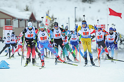 February 8, 2019 - Calgary, Alberta, Canada - Athletes compete after start of Men's Relay of 7 BMW IBU World Cup Biathlon 2018-2019. Canmore, Canada, 08.02.2019 (Credit Image: © Russian Look via ZUMA Wire)