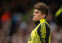LEEDS, ENGLAND - Sunday, September 12, 2021: Leeds United's substitute Daniel James warms-up during the FA Premier League match between Leeds United FC and Liverpool FC at Elland Road. Liverpool won 3-0. (Pic by David Rawcliffe/Propaganda)
