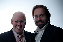 © Copyright licensed to London News Pictures. 18.10/2010. Matt Lucas & Alfie Boe at the Royal Albert Hall. Musicians and composers from the world of film gather for Concert for Care, Royal Albert Hall, London.
