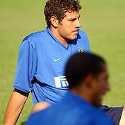 Training Inter Milan NVC terrein Naarden, keeper Francesco Toldo