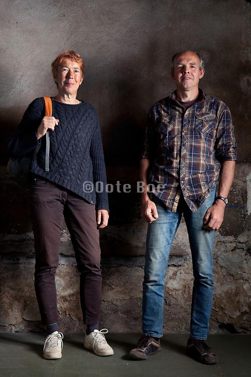 organic vegetable farmer couple