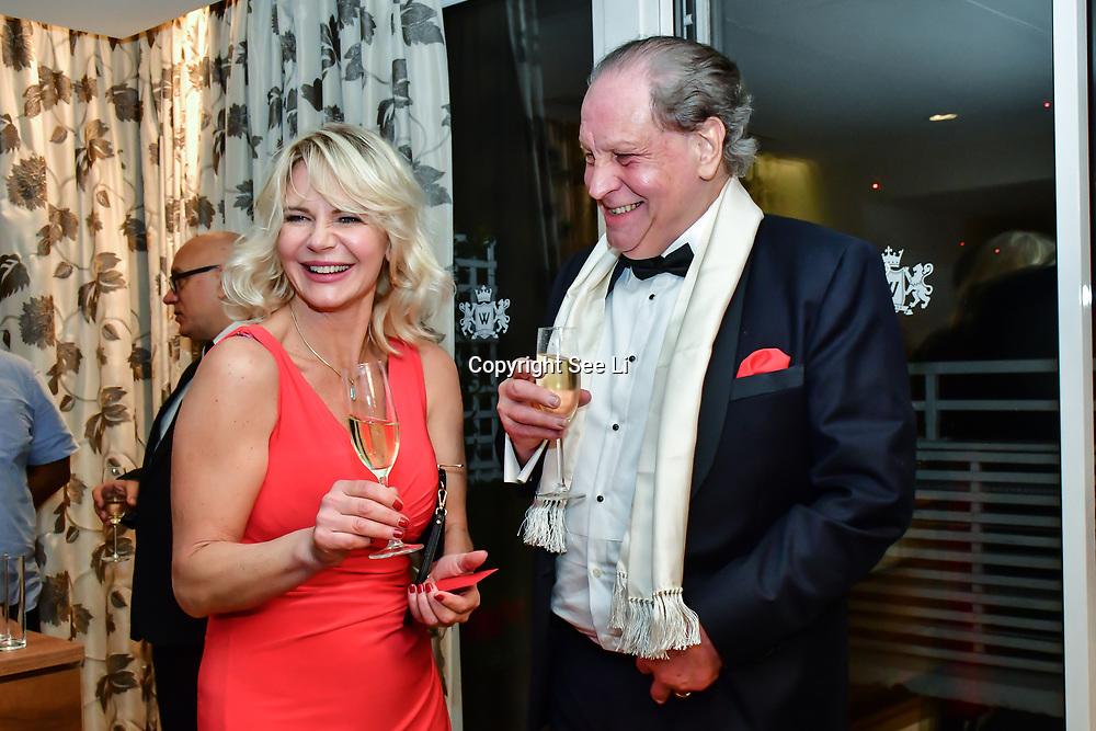 Inge Neaves, Michael Gelard attend Rochay High Society Soiree with Jovoy at Westbury Mayfair grafton suite on 21 November 2019, London, UK.