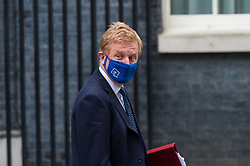© Licensed to London News Pictures. 03/03/2021. LONDON, UK.  London, UK.  3 March 2021.  Oliver Dowden, Health Secretary, is seen in Downing Street.  Rishi Sunak, Chancellor of the Exchequer, will deliver his Budget speech in the House of Commons later.  Photo credit: Stephen Chung/LNP