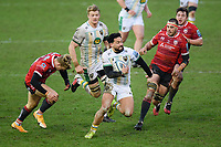 Rugby Union - 2020 / 2021 Gallagher Premiership - Gloucester vs Northampton Saints - Kingsholm<br /> <br /> Northampton Saints' Matt Proctor evades the tackle of Gloucester's Ollie Thorley.<br /> <br /> COLORSPORT/ASHLEY WESTERN