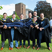 26.08.2016        <br /> University of Limerick Interfaculty Conferring Ceremony.<br /> <br /> Attending the conferring ceremony were Bachelor of Science in Biological Sciences (Education) in Biological Sciences graduates, Gareth Lenehan, Ballina Co. Mayo, David Evans, Kindle Co. Cork, Peter Greatly, Mount Bolus Co. Offaly, Dylan Walshe, Bree Co. Waterford, NIall Maher, Loughrea Co. Galway, Peter Dolan, Kiltorman Co. Galway and Liam Mannion, Lowhill Co. Kilkenny. Picture: Alan Place.