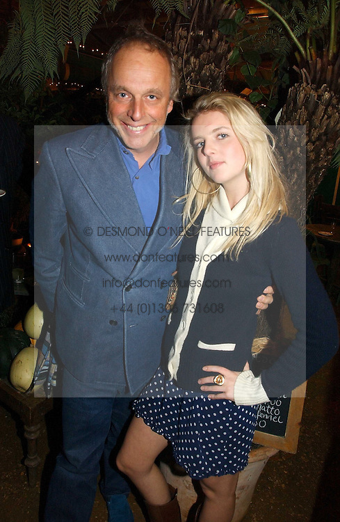 SIMON WOODRUFF founder of Yo ! Sushi and his daughter  CHARLOTTE WOODRUFF at a party to celebrate the publication on 'A Year in My Kitchen' by Skye Gyngell held at The Petersham Nurseries, Petesham, Surrey on 19th October 2006.<br /><br />NON EXCLUSIVE - WORLD RIGHTS