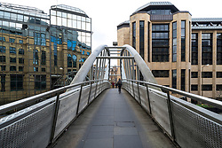 Pedestrian footbridge linking Exchange Crescent with Rutland Square in central Edinburgh, Scotland ,UK