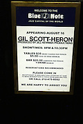 Atmosphere at Gil Scott-Heron Produced by Jill Newman Productions held at The Blue Note Jazz Club on Augustt 16, 2009 in New York City...The Legendary Gil Scott-Heron played two sets at Blue Note to sold out crowd..***exclusive***