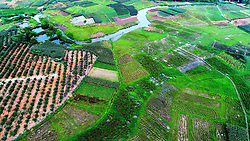 June 4, 2017 - Nannin, Nannin, China - Nanning, CHINA-June 4 2017: (EDITORIAL USE ONLY. CHINA OUT) ..Aerial photography of rice fields in Nanning, southwest China's Guangxi Province, June 4th, 2017. (Credit Image: © SIPA Asia via ZUMA Wire)