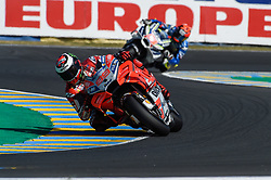 May 18, 2018 - Le Mans, France - Jorge Lorenzo (Ducati) during the practice sessions.during MotoGP Le Mans practice sessions in France  (Credit Image: © Gaetano Piazzolla/Pacific Press via ZUMA Wire)