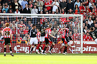 Photo: Mark Stephenson/Richard Lane Photography. <br /> Sheffield United v Cardiff City. Coca-Cola Championship. 19/04/2008. <br /> Sheffield's Gary Speed heads in for 1-1