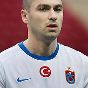 Trabzonspor's Burak YILMAZ during their Turkish superleague soccer derby match Galatasaray between Trabzonspor at the TT Arena in Istanbul Turkey on Sunday, 10 April 2011. Photo by TURKPIX