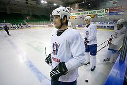 Marcel Rodman at first practice of Slovenian National Ice hockey team before World championship of Division I - group B in Ljubljana, on April 5, 2010, in Hala Tivoli, Ljubljana, Slovenia.  (Photo by Vid Ponikvar / Sportida)