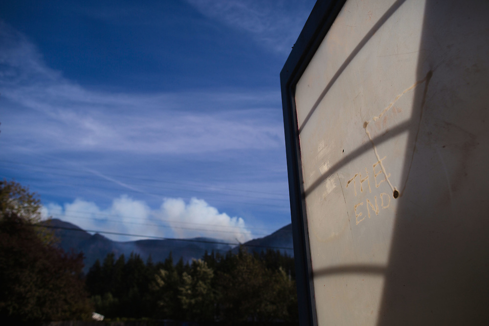 Sept. 13, 2017   Views of the Eagle Creek Fire in the Columbia River Gorge from Cascade, Locks Oregon