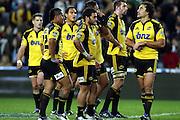 David Smith, Piri Weepu dejected after the loss<br /> Super 14 rugby union match, Waratahs vs Hurricanes, Sydney, Australia. <br /> Saturday 14 May 2010. Photo: Paul Seiser/PHOTOSPORT