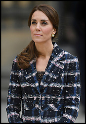 October 14, 2016 - Manchester, England, United Kingdom - Image ©Licensed to i-Images Picture Agency. 14/10/2016. Manchester, United Kingdom. The Duke and Duchess of Cambridge visit Manchester. Prince William, The Duke of Cambridge accompanied by his wife Catherine, The Duchess of Cambridge, lay a wreath at the Cenotaph at Manchester Town Hall , As part of a UK Government First World War Centenary campaign, special paving stones are being laid in the hometowns of all those in the United Kingdom who were awarded the Victoria Cross. Picture by Andrew Parsons / i-Images (Credit Image: © Andrew Parsons/i-Images via ZUMA Wire)