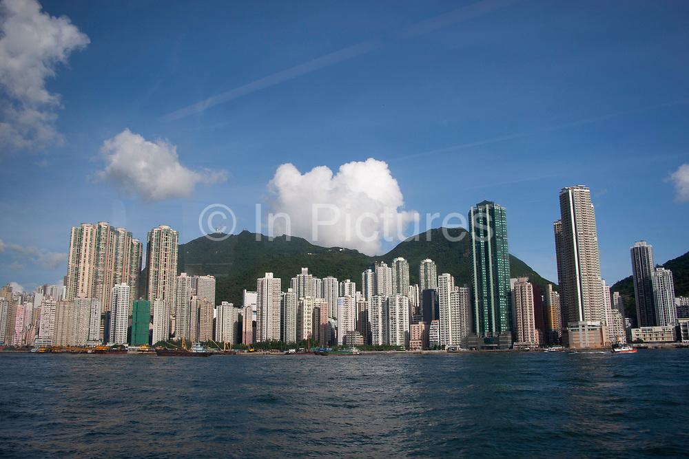 High rise apartments in Hong Kong, China.