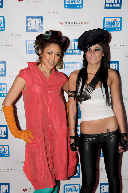 New York, New York, 2008: amNY newspaper sponsers its Reality Runway show, a charity event featuring reality TV shows from shows like the Real World and Top Chef.         Photos by Tiffany L Clark