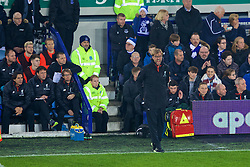 LIVERPOOL, ENGLAND - Monday, December 19, 2016: Liverpool's manager Jürgen Klopp shouts instructions during the FA Premier League match against Everton, the 227th Merseyside Derby, at Goodison Park. (Pic by Gavin Trafford/Propaganda)