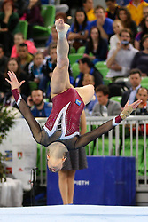05-04-2015 SLO: World Challenge Cup Gymnastics, Ljubljana<br /> Sasa Golob of Slovenia competes in Floor Exercise during Final of Artistic Gymnastics World Challenge Cup Ljubljana, on April 5, 2015 in Arena Stozice, Ljubljana, Slovenia.<br /> Photo by Morgan Kristan / RHF Agency