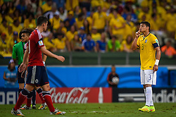 Thiago Silva na partida entre Brasil x Colombia, válida pelas quartas de final da Copa do Mundo 2014, no Estádio Castelão, em Fortaleza-CE. FOTO: Jefferson Bernardes/ Agência Preview