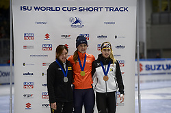February 9, 2019 - Torino, Italia - Foto LaPresse/Nicolò Campo .9/02/2019 Torino (Italia) .Sport.ISU World Cup Short Track Torino - Ladies 1500 meters Final A .Nella foto: Ji Yoo Min, Suzanne Schulting, Anna Seidel..Photo LaPresse/Nicolò Campo .February 9, 2019 Turin (Italy) .Sport.ISU World Cup Short Track Turin - Ladies 1500 meters Final A.In the picture: Ji Yoo Min, Suzanne Schulting, Anna Seidel (Credit Image: © Nicolò Campo/Lapresse via ZUMA Press)