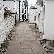 A quaint alleyway in Beaumaris on the island of Anglesey of the north coast of Wales, UK.