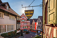 Half-timbered buildings in Schiltach, Kinzigtal Valley, Black Forest, Baden-Wuerttemberg, Germany