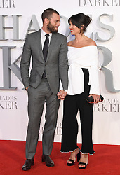 Jamie Dornan and wife Amelia Warner arriving for the Fifty Shades Darker European Premiere held at Odeon Leicester Square, London. Picture date: Thursday February 9, 2017