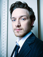 2007Photo© Tom Wagner .Portrait of James McAvoy, actor starring in the movie Atonement. Winner of the BAFTA Rising Star award, 2006. Nominated for BAFTA best supporting actor in 2007. Appeared in Chronicles of Narnia, and Last King of Scotland. Photographed at Claridges hotel,  London, England..www.tomwagnerphoto.com.Photo©Tom Wagner 2007/ ©2007 Tom Wagner.Tom Wagner - all rights reserved,all moral rights asserted. Copyrighted - no useage allowed without written permission and agreement of Tom Wagner, photographer/creator.