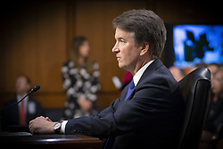 September 4, 2018 - Washington, District of Columbia, United States - U.S. Supreme Court Associate Justice nominee BRETT KAVANAUGH at his confirmation hearing before the Senate Judiciary Committee in the Hart Senate Office Building in Washington D.C.  (Credit Image: © Douglas Christian/ZUMA Wire)