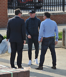 EXCLUSIVE: ** STRICTLY NO WEB UNTIL10pm GMT MAY 24th 2018** Wayne Rooney arrives to the new DC United stadium to meet with team officials. Rooney is met by team investor Jason Levin, his agent. A DC United team official is seen carrying two bags which contain hard hard & reflective safety vests to wear throughout there tour. 23 May 2018 Pictured: Wayne Rooney. Photo credit: Todd DC / MEGA TheMegaAgency.com +1 888 505 6342