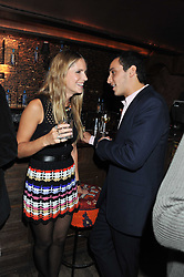 EUGENIE NIARCHOS and ALEX DELLAL at a party to celebrate the opening of the Muzungu Sisters Pop Up Store at Momo - an ethically sourced fashion brand  held at Momo, 25 Heddon Street, London on 27th October 2011.