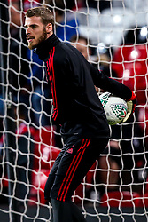 David De Gea of Manchester United - Mandatory by-line: Robbie Stephenson/JMP - 25/09/2018 - FOOTBALL - Old Trafford - Manchester, England - Manchester United v Derby County - Carabao Cup
