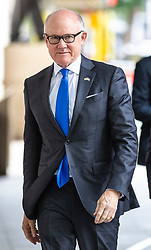 © Licensed to London News Pictures. 02/06/2019. London, UK. United States Ambassador to the United Kingdom Woody Johnson arrives at BBC Broadcasting House to appear on The Andrew Marr Show Photo credit: Rob Pinney/LNP