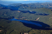 USA, Oregon, aerial landscape of Bull Run and Lost Lakes.