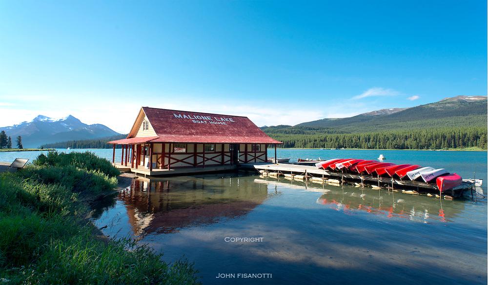 Maligne Lake Boat House, Jasper National Park