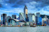 CONVENTION & EXHIBITION CENTRE AND CENTRAL PLAZA, WAN CHAI (DAY)
